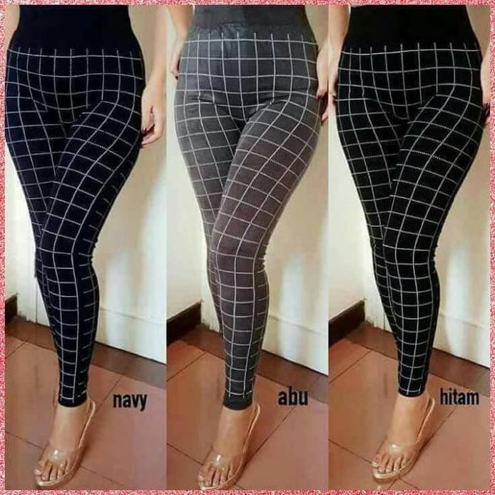 Celana Kotak Legging Import Fashion Trendy Kekinian Wanita Termurah Hitam Shopee Indonesia