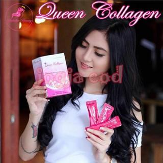 Minuman Bubuk Pemutih Pengencang Kulit Tubuh Queen Collagen asli vitamin para Artis Terdaftar .