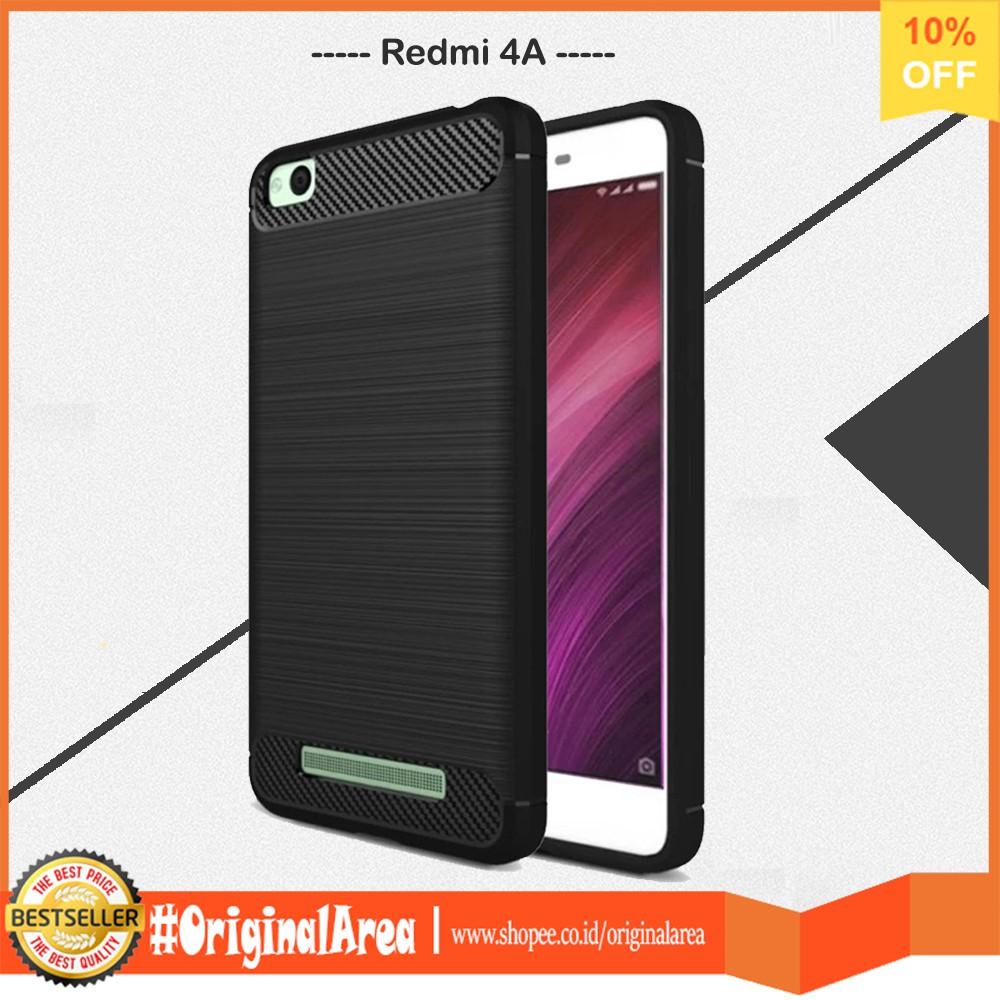 Case Xiaomi Redmi 4A Ipaky Carbon Fiber Softcase Premium Shockproof TPU - Hitam   Shopee Indonesia