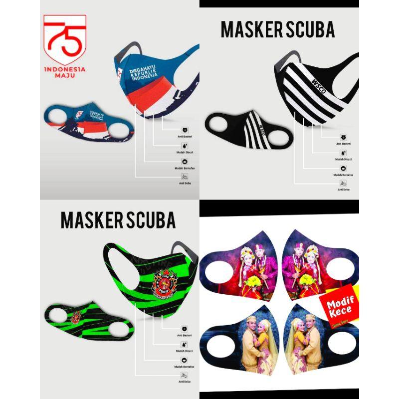 MASKER SCUBA printing/PESAN DESAIN/masker printing wajah ...