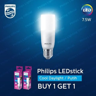 Philips LED Stick 7.5W Cool Day Light Putih Buy 1 Get 1 2 pcs | Shopee Indonesia