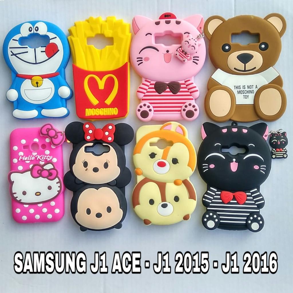 SAMSUNG J1 ACE - J1 2015 - J1 2016 - CASE BONEKA CARACTER 3D LUCU 3D ... 8b74f02017