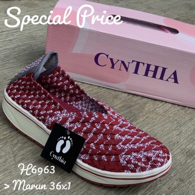 Cynthia H6963 Original Sepatu Rajut Wedges Anyam Wanita f5bb09c68a