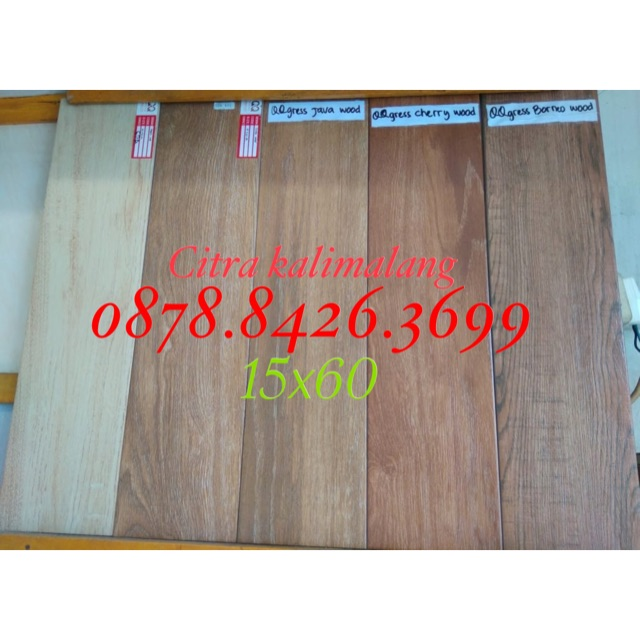 Granit lantai motif parquet/kayu 15x60