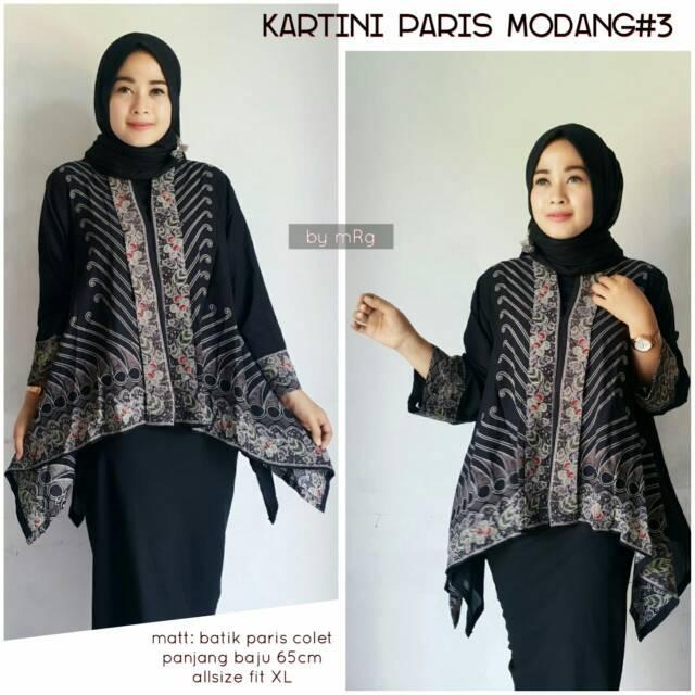 Kartini Paris Modang3 Blus Batik Wanita Pesta Atasan Batik Model Terbaru 2018