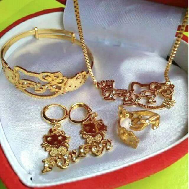 Perhiasan Emas Asli Satu Set - Aksesoris Kita