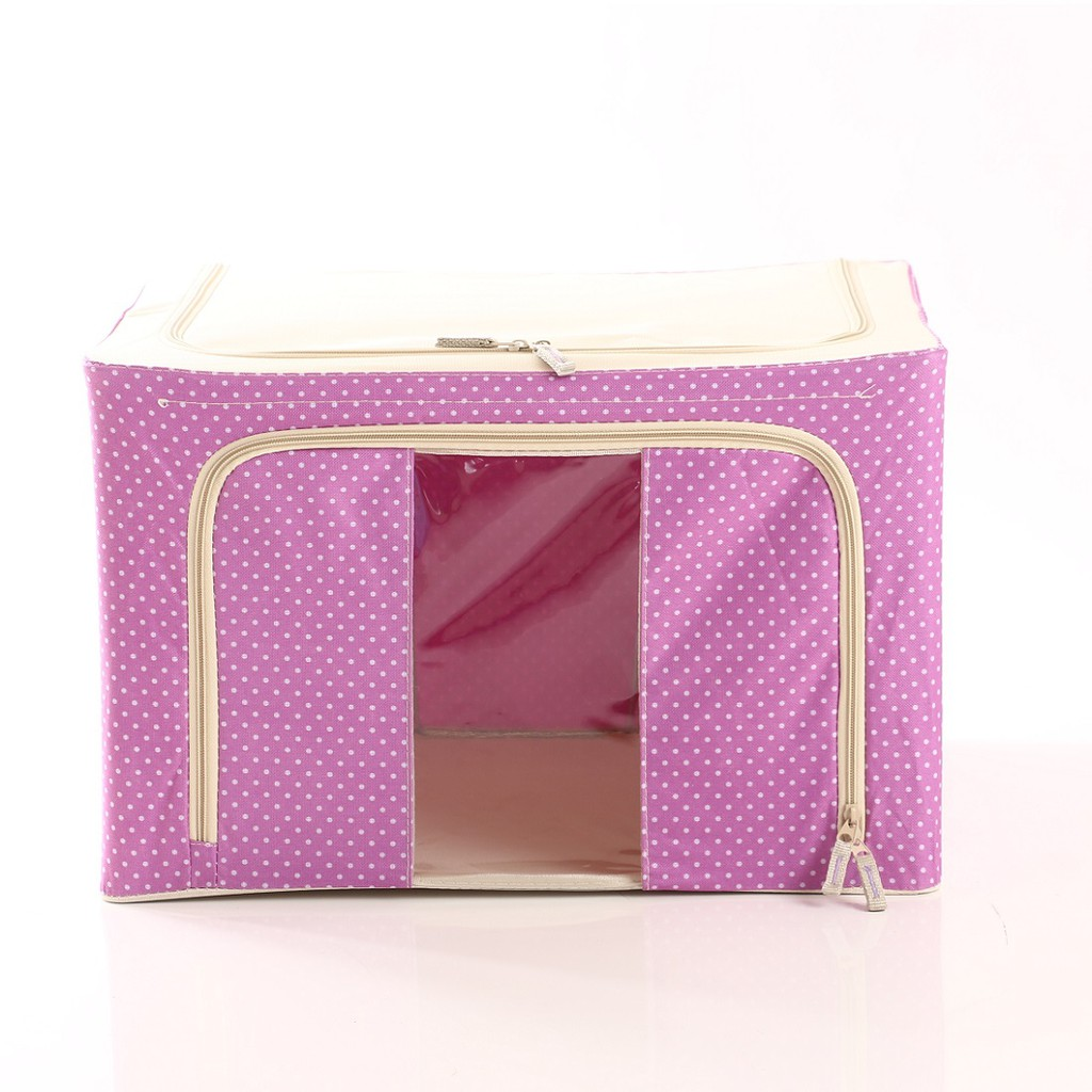 Storage Box/Organizer Steel Frame Oxford Fabric 66 L-Pink | Shopee Indonesia