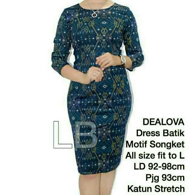 LILIANA DRESS BATIK MOTIF SONGKET / BIG SIZE/ LB ORIGINAL   Shopee Indonesia