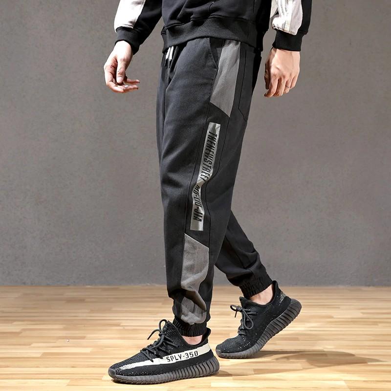 Sopt Fashion Streetwear Men Jeans Spliced Loose Fit Casual Cargo Pants Hombre Harem Trousers Slack Bottom Hip Hop Joggers Pants Men Shopee Indonesia