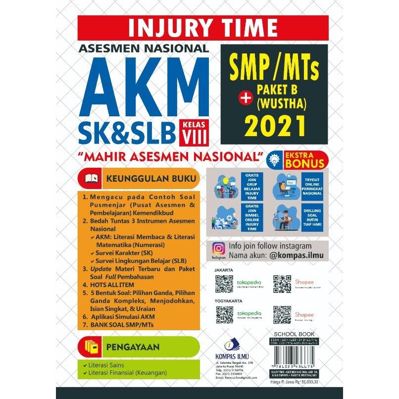 Injury Time Asesmen Nasional Akm Sk Slb Smp Mts Paket B Wustha Shopee Indonesia