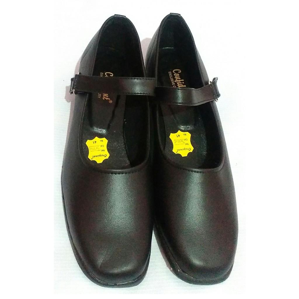 Fiuri Sepatu Pantofel Wanita Tali Hitam Sepatu Pantofel