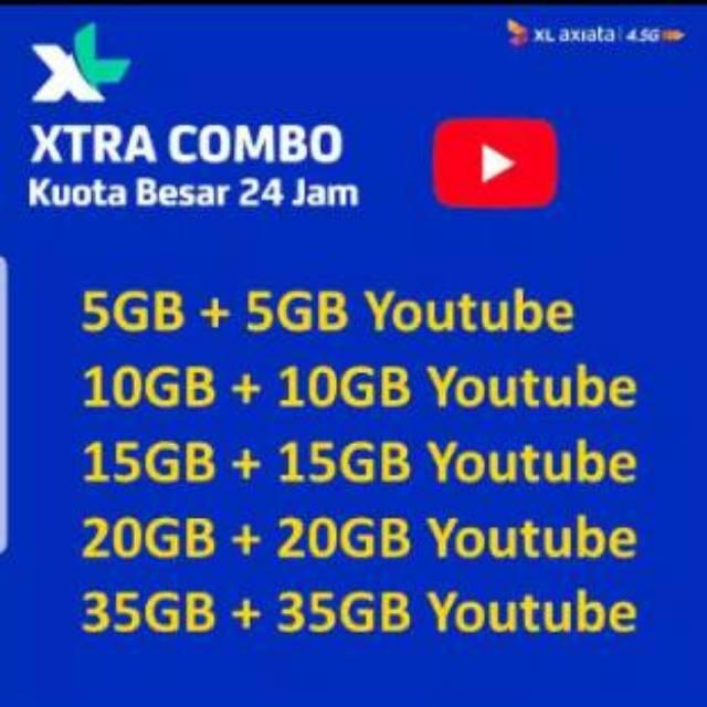 Paket data XL internet COMBO XTRA 10GB - 20GB - 30GB - 40GB - 70GB