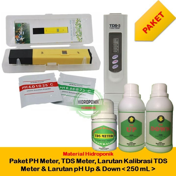 Paket Ph Meter Tds Meter Larutan Kalibrasi Tds Meter Dan Larutan