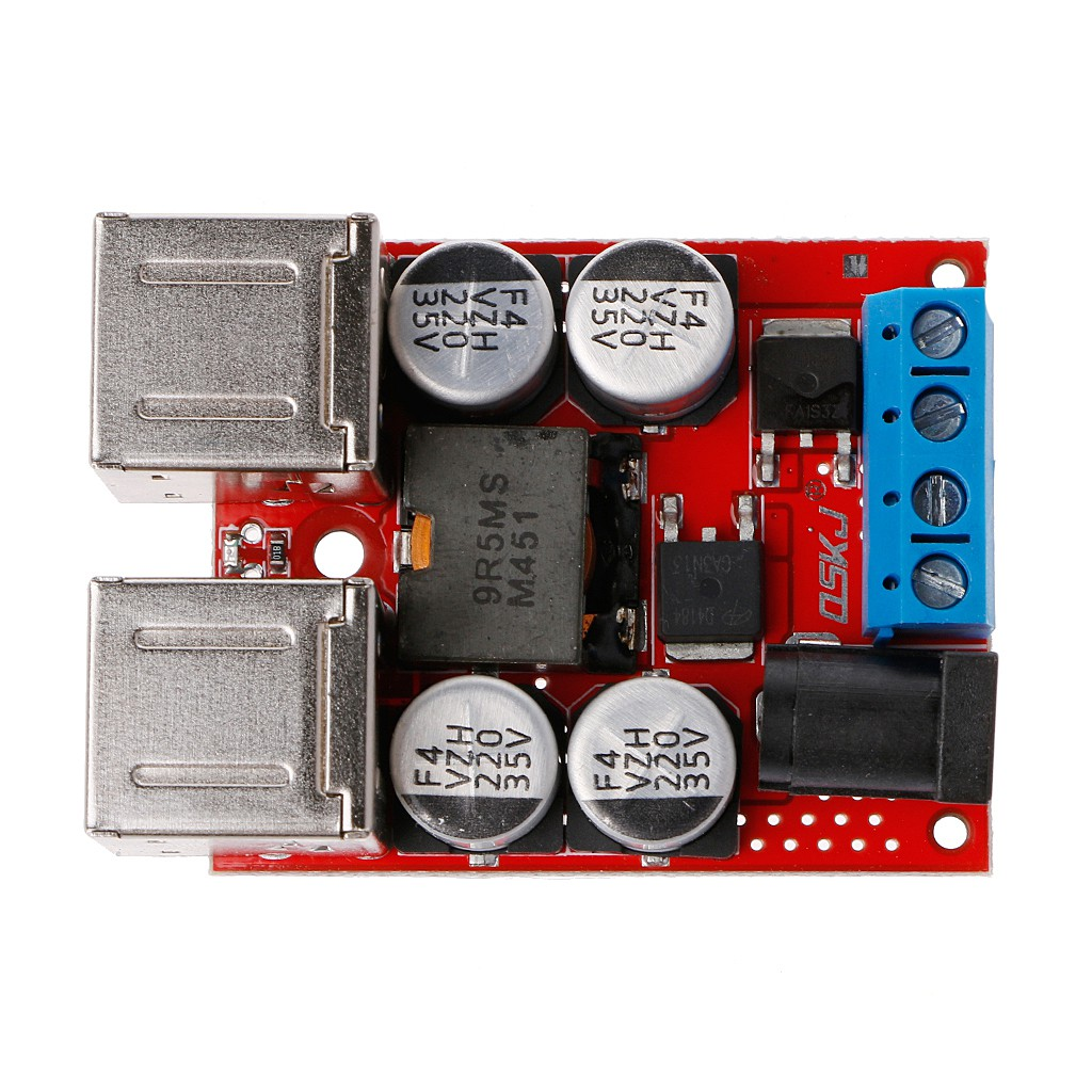 DC-DC Vehicle Charging Module 8V-35V to 5V 8A 4 Port USB Output Mobile Charger