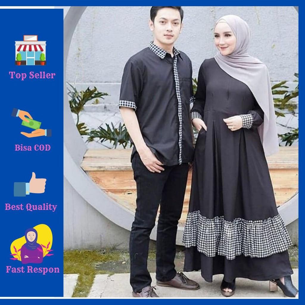 WHS - Senada Set Gamis Couple Pria Wanita Baju Gamis Muslim Murah Gamis  Couple Kekinian Harga Grosir