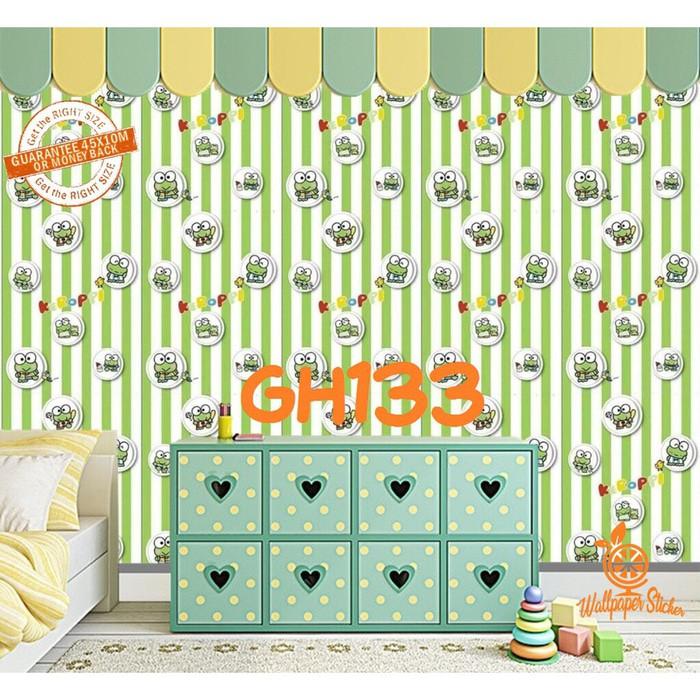 Wallpaper Sticker Keroppi Stripe Stiker Dinding Kamar Tidur Anak Ruang Tamu Dekorasi Rumah Sekolah Shopee Indonesia