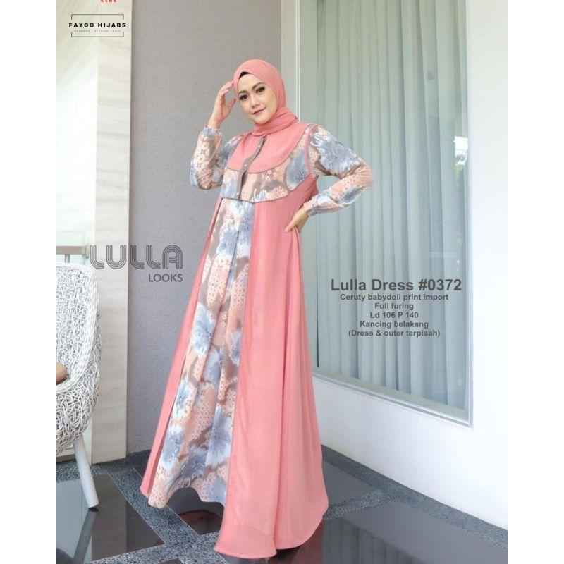 WAJIB DIBELI LULLA DRESS BY LULLA LOOKS GAMIS BRANDED ORIGINAL GAMIS LEBARAN TERBARU