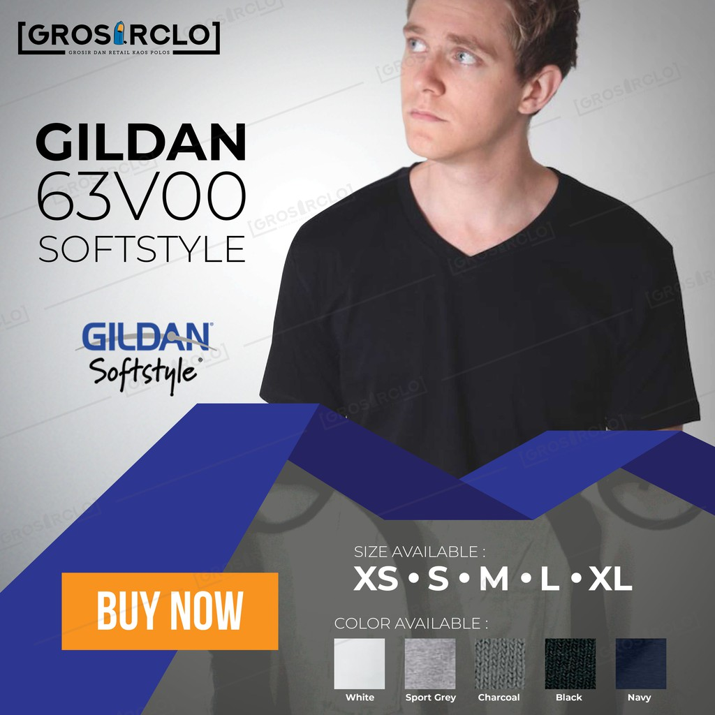 Kaos Baju Polos Gildan Softstyle 63000 Original Murah Jakarta Import Lengan Panjang Longsleeve Cotton Combed Ketebalan Seperti Premium Lebih Bagus Dari Shopee Indonesia