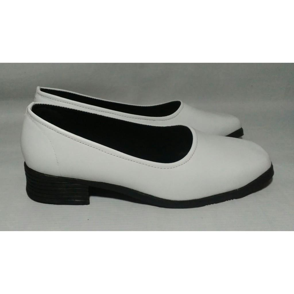 CONFIDENT - Sepatu Pantofel Wanita Polos Putih - Sepatu Perawat - Sepatu  Putih - Sepatu Putih Cewek 53c162aff5