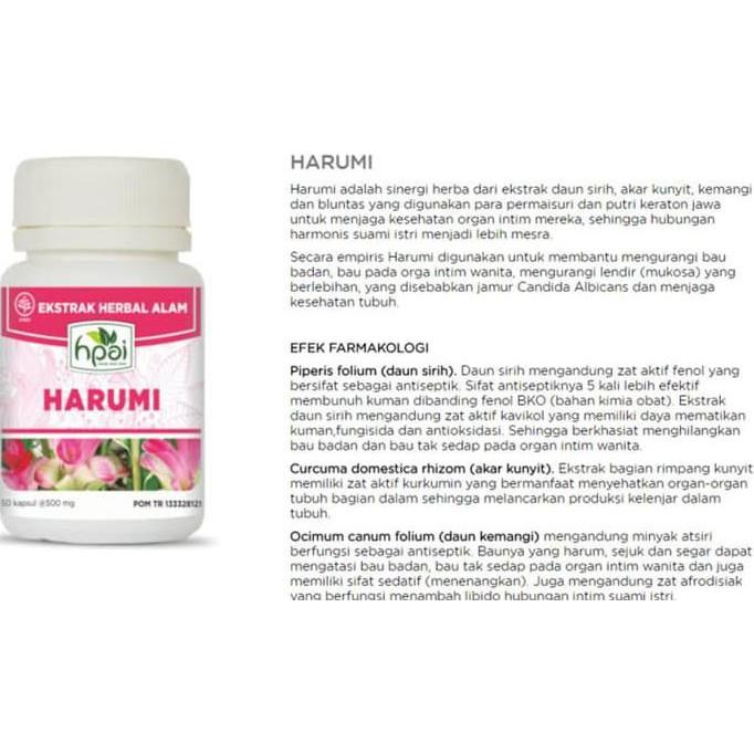 HARUMI HPAI (OBAT HERBAL ALAMI KHUSUS ORGAN INTIM WANITA | Shopee Indonesia
