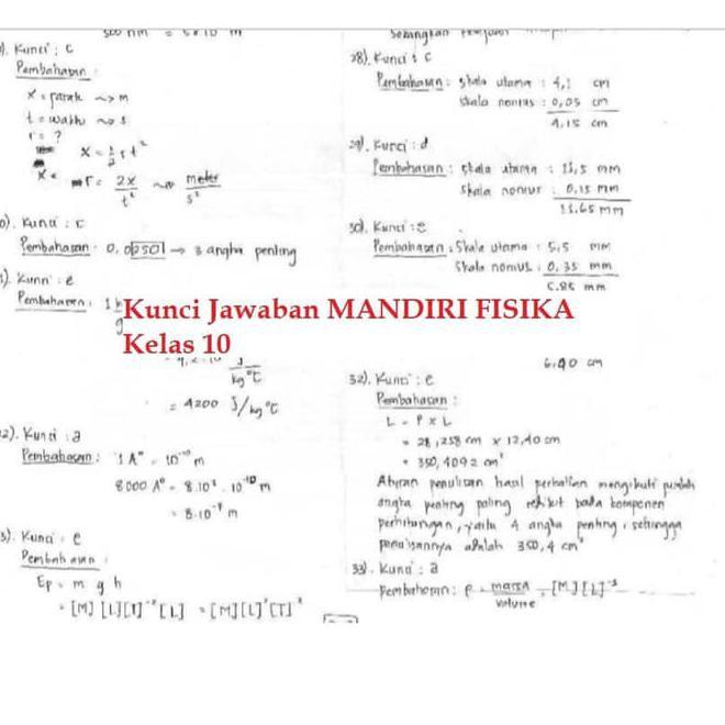 Buku Mandiri Fisika Sma Kelas 10 X K13 Soal Jawaban Kurtilas Kode 280 Shopee Indonesia