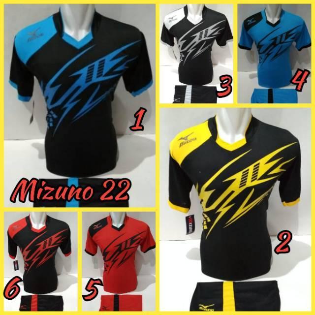 Baju Voli Mizuno   Jersey Volly   Kostum Volleyball   Baju Bola   Futsal   Setelan  Baju Tim Volly  a975893a94