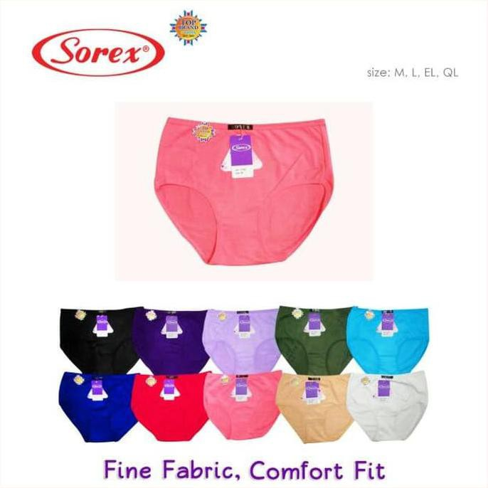 Best Seller Celana Dalam   Cd Wanita Midi Sorex 8711 Ukuran Ql Xxl (6 Pcs)  Ready Stock  bdcd9ade8f