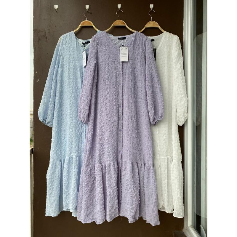 Dress gamis macaron import premium lfy