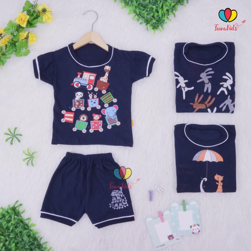 Atasan Kancing Bayi Lgn Pendek Isi 6 12 pc Baju Bayi Pakaian Bayi Celana Bayi Kado