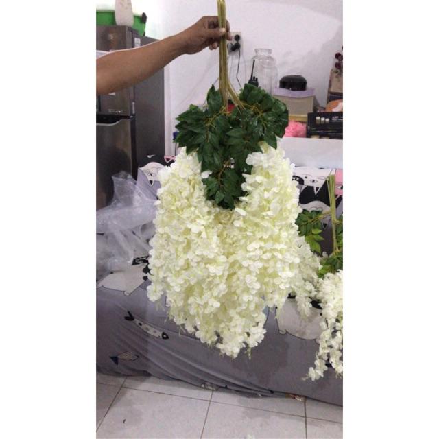 Bunga Wisteria Panjang Bunga Plastik Bunga Juntai Artifisial Bunga Gantung Shopee Indonesia