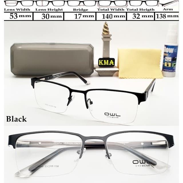 KCF.45 kacamata kotak frame minus OWL frame kacamata minus super ... 9e9f80200a