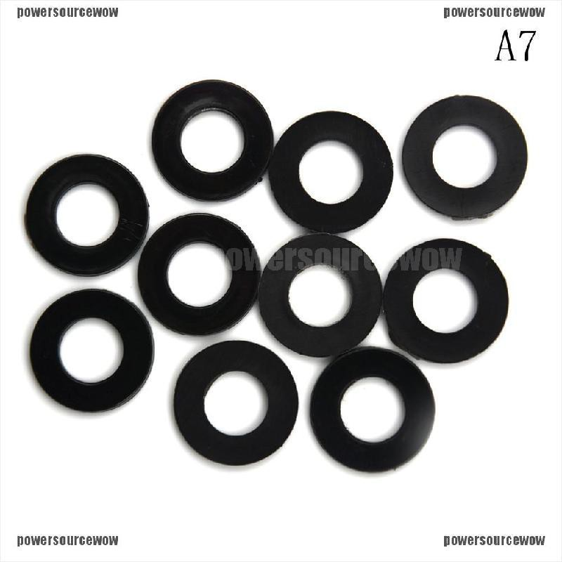 M4 4mm FLAT FORM A BLACK THICK NEOPRENE COMMERCIAL GRADE RUBBER WASHER WASHERS