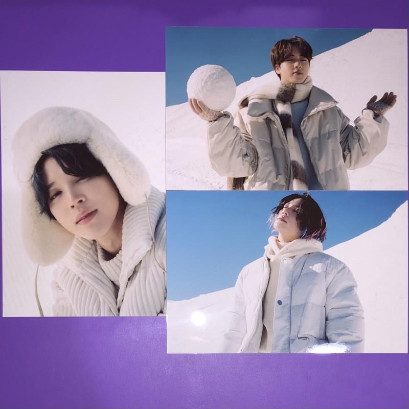 BTS Jin Jimin Jungkook 4x6 Photo Set Winter Package 2021 Sharing Winpack PC Photocard