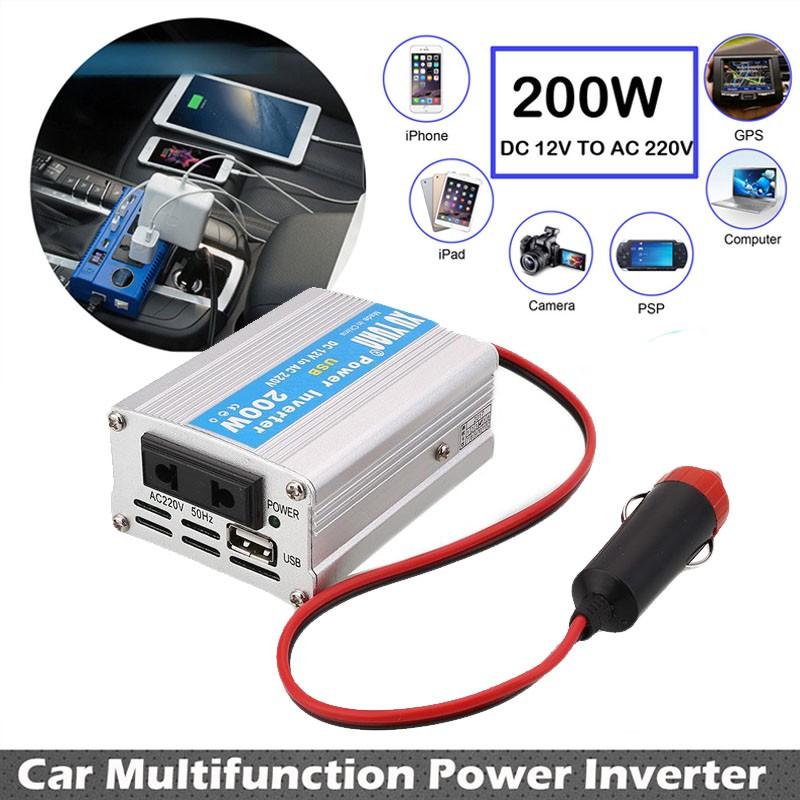 Promo Car Inverter Colokan Listrik AC 220V 150W Mobil dengan port USB | Shopee Indonesia