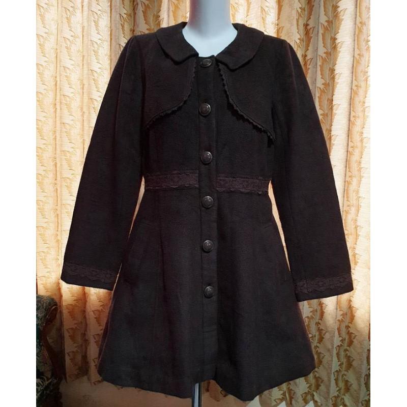 Preloved Coat Axes Femme Vintage Wool Renda Kawaii Import Branded