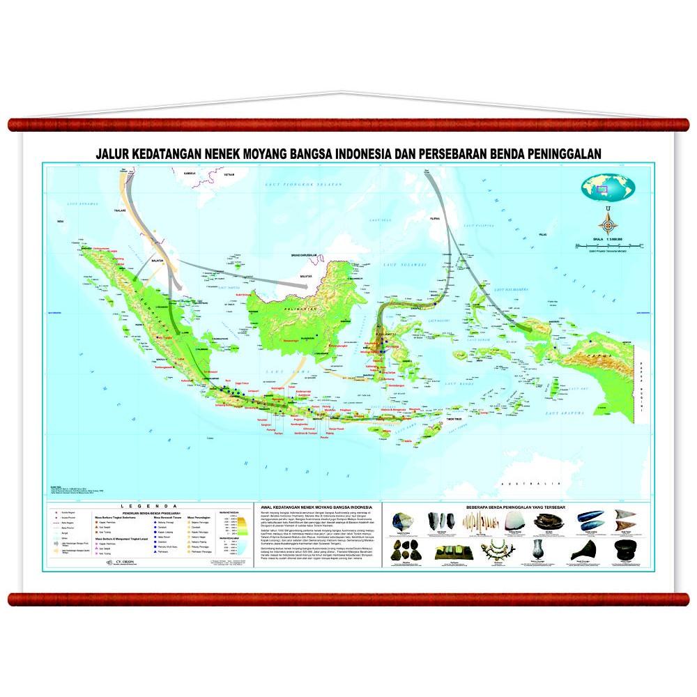 Peta Jalur Kedatangan Nenek Moyang Bangsa Indoensia Dan Persebaran Barang Peninggalan Shopee Indonesia