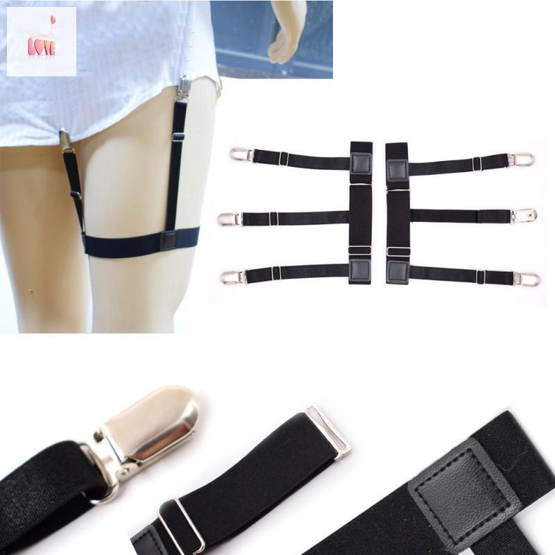 Women Elastic Leather Leg Ring Garter Belt Suspender Clip For Corset Stockings
