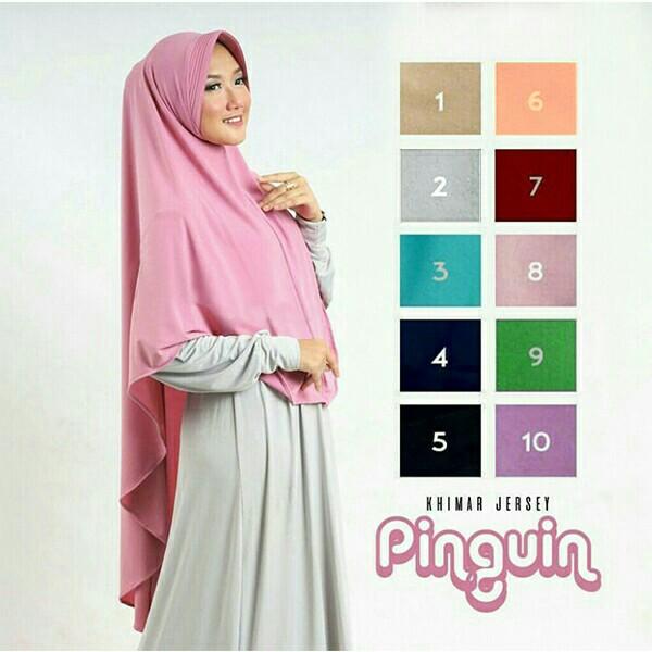 Jilbab Hijab Khimar Syari I Pet Antem Pinguin Terbaru Shopee Indonesia