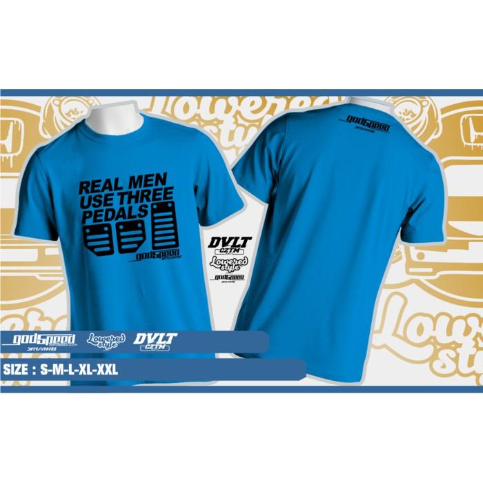 Kaos T-shirt Mobil Real Men Use Three Pedals By Godspeed  45a346b7d1