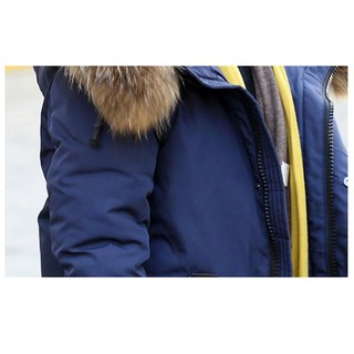 4fef4d78a Kids Toddler Boys Faux Fur Hooded Parka Puffer Coat Padded Jacket ...