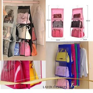 ^LVOI Hanging Bag Organizer / Gantungan Tempat Penyimpanan Tas Handbag Tempat Penyimpanan Tas Buku