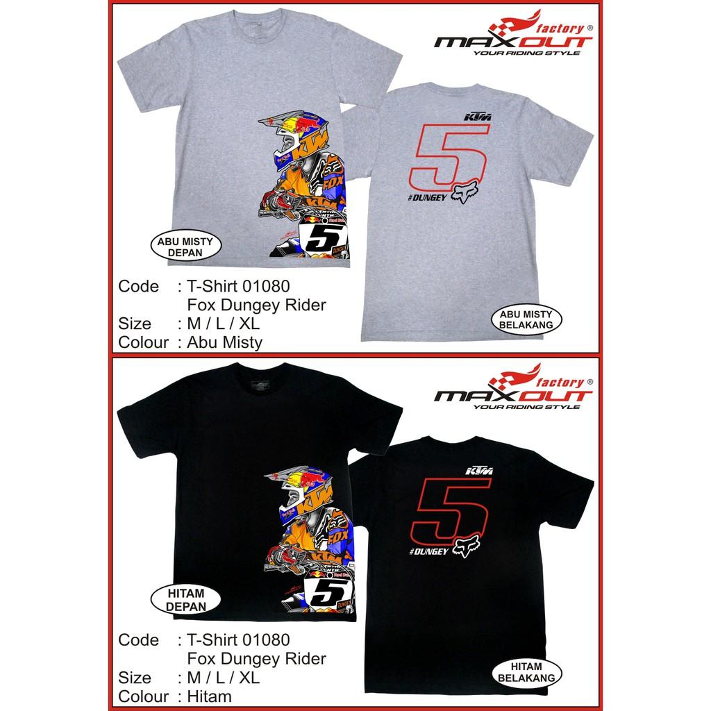 Kaos Racing Distro T Shirt Fox Head Shopee Indonesia Racer