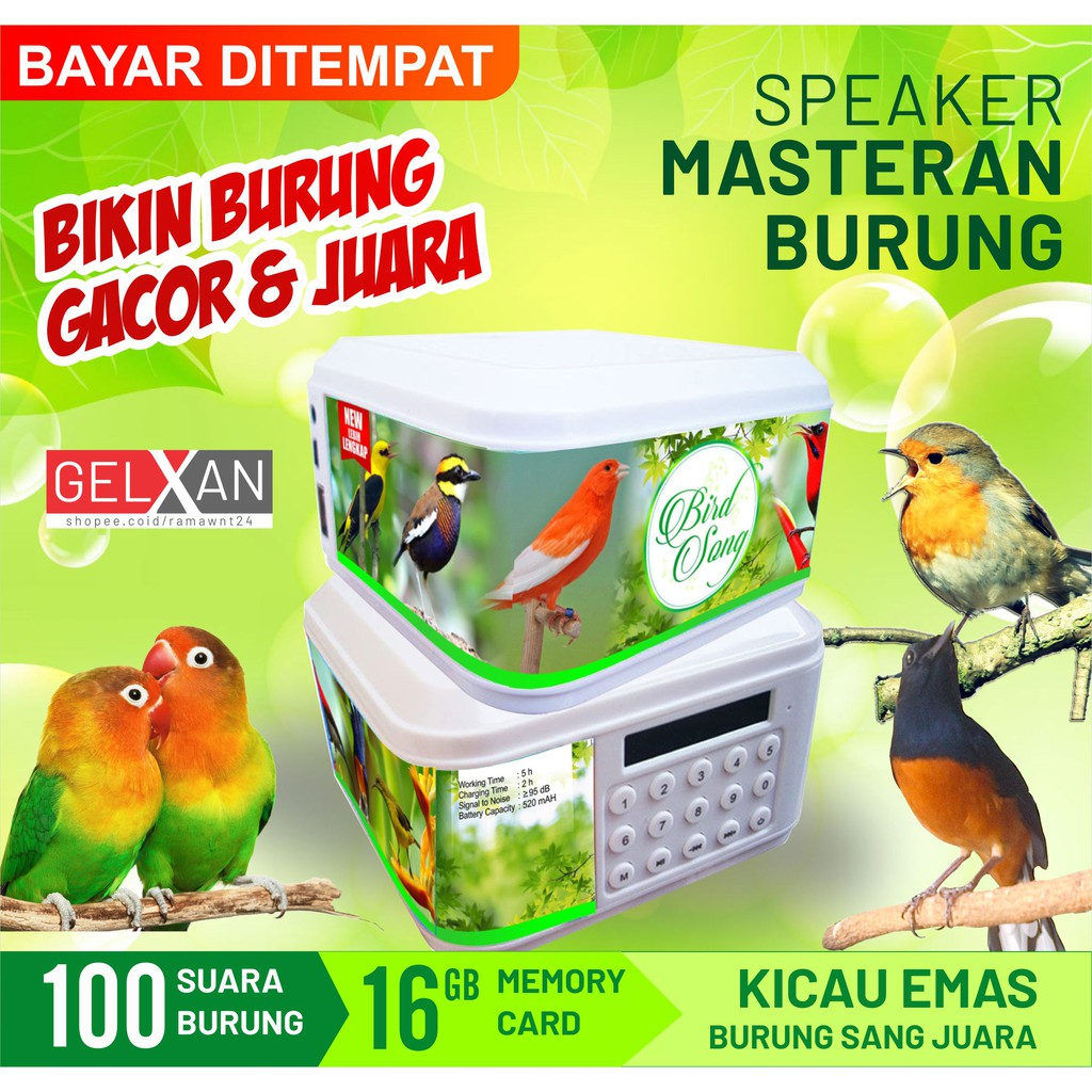 Speaker Masteran Burung Juara Bird Song Mp3 Masteran Isian Burung Kicau Bisa Di Ulang Ulang Shopee Indonesia