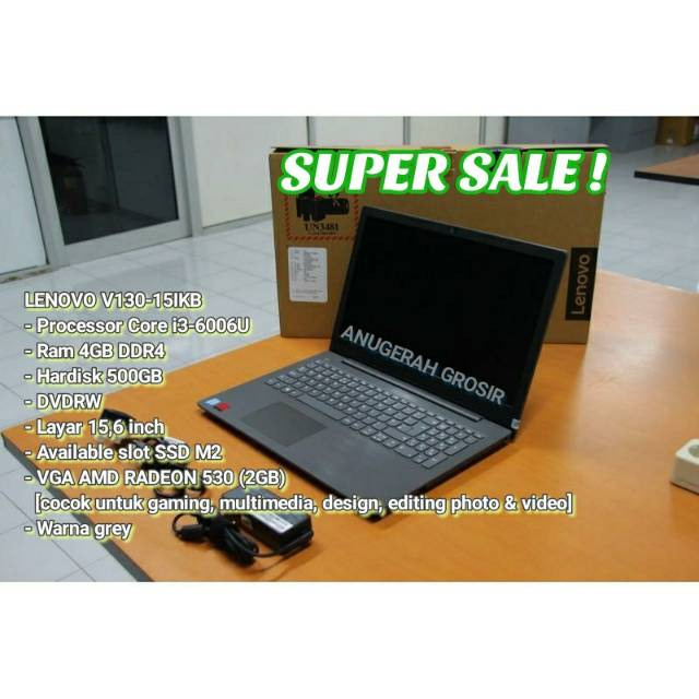 Promo Laptop Gaming Lenovo V130 15ikb Core I3 6006u 4gb 500gb Ssd M2 16 Inc Vga Amd 2gb Shopee Indonesia