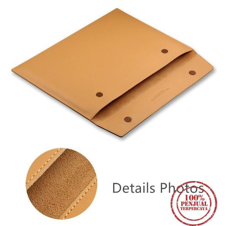 "TMD "" Sleeve Case Kulit Horizontal Leather MacBook Pro 13 Inch "" ~ Tas L"