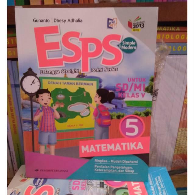 Esps Matematika Kelas 5 K13 Erlangga Shopee Indonesia