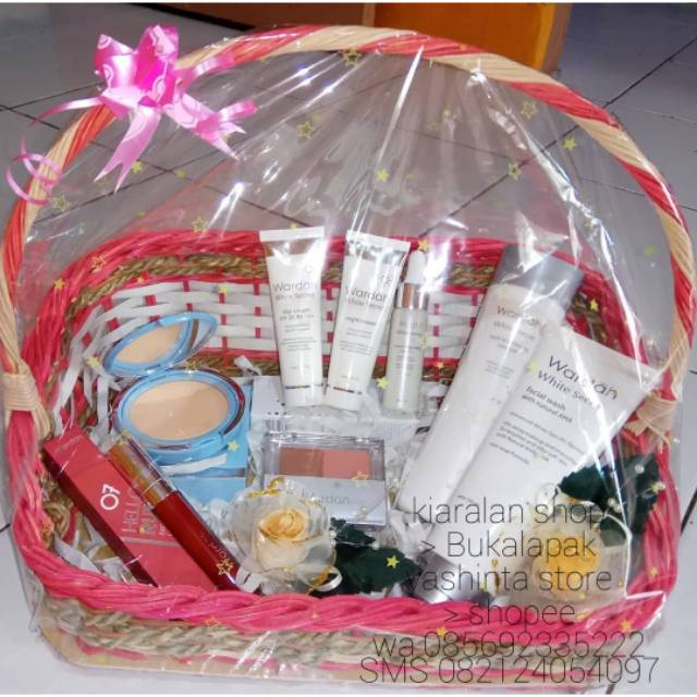 Parsel Wardah Paket Seserahan Pernikahanmahar Kosmetikpaket Hantaranparcel Make Up