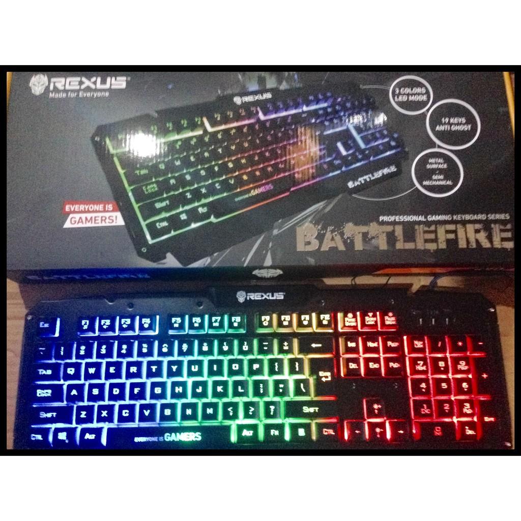 Keyboard Gaming Rexus K9d Semi Mechanical 19 Keys Anti Ghost Kx1 Backlight Shopee Indonesia