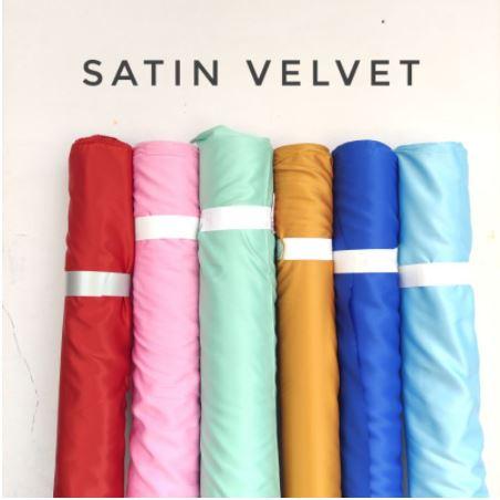 Bahan Kain Satin Velvet Premium Per Roll