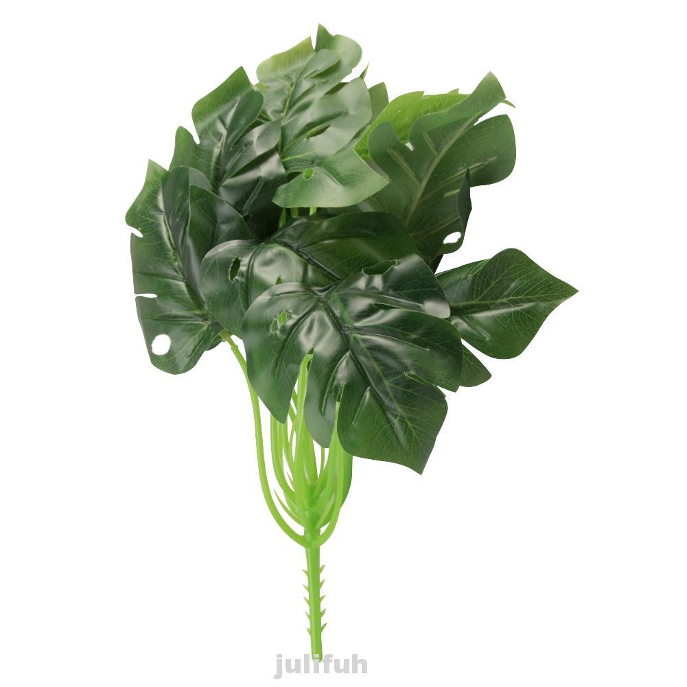 Leaves Fake Plants Bouquet Gr Green